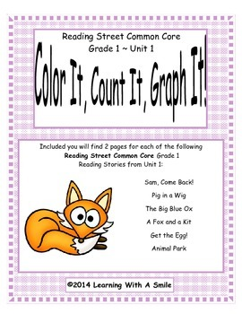 Reading Street First Grade Spelling Unit 1 Color It, Count It, Graph It!