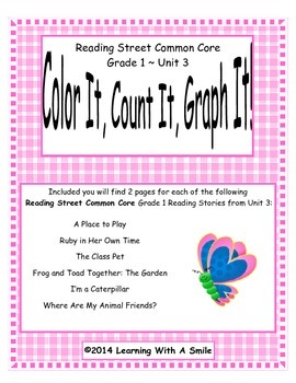 Reading Street First Grade Spelling Unit 3 Color It, Count It, Graph It!