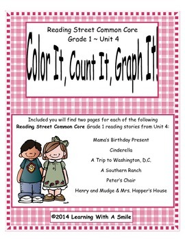 Reading Street First Grade Spelling Unit 4 Color It, Count
