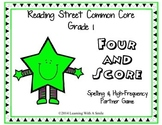 Reading Street First Grade HF and Spelling Partner Game Units 1-5: Four & Score