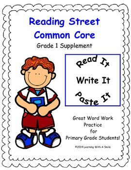 Reading Street First Grade Spelling Units 1-5 Read, Write, & Paste It!