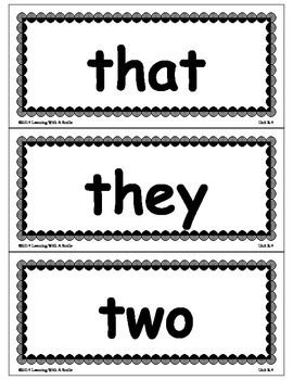 Reading Street Common Core Grade 1 HF Words for Word Walls/ Pocket Charts