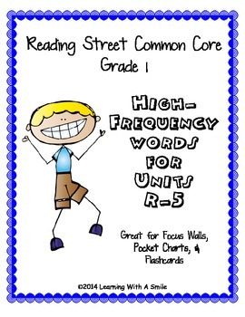 Reading Street Common Core Grade 1 HF Words for Word Walls
