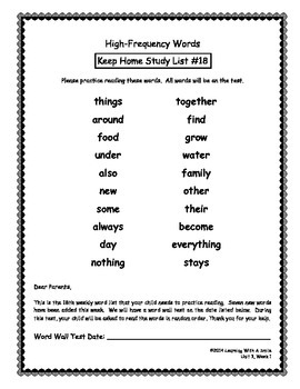 Reading Street GRADE 1 High Frequency Study Guides/Tests UNITS R-5