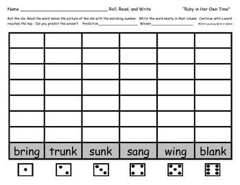 Reading Street 1st Grade Units 1-5  Word Game ~ Roll, Read, & Write