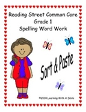 Reading Street First Grade Spelling Sort and Paste  Units 1-5