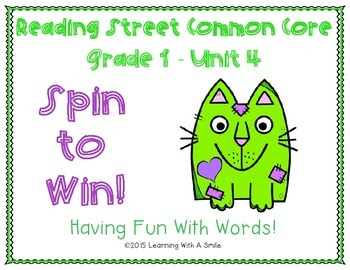 Reading Street Common Core ~ Grade 1 ~ Spin to Win! ~ Unit 4 ~ Partner Word Game