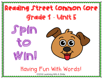 Reading Street  Grade 1 ~ Spin to Win! Unit 5 Partner Game