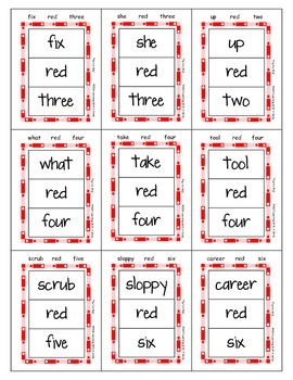 Reading Street Common Core Match It! Word Game ~ Similar to UNO!® ~ Gr 1, Unit 1