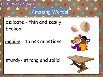 Reading Street Flipchart Common Core Second Grade Unit 1 Week 5