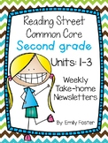 Reading Street Common Core Second Grade Units 1- 3 Weekly Newsletters