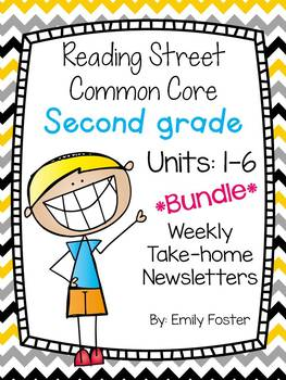 Reading Street Common Core Second Grade Units 1-6 Weekly Newsletters Bundle