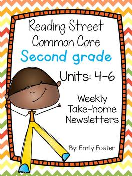 Reading Street Common Core Second Grade Units 4-6 Weekly Newsletters