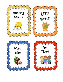 Reading Street Common Core Small Group Centers Bulletin Board Icons