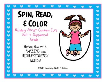 Reading Street FIRST GRADE High Frequency and Amazing Words Unit 3 Game