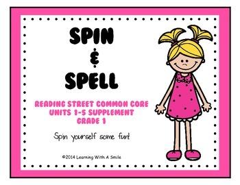 Reading Street Common Core ~ Spin & Spell ~ Word Work ~ Literacy Center ~ Gr. 1