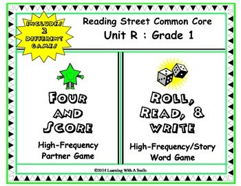Reading Street FIRST GRADE (UNIT R) High Frequency/Story Word Games (2 Games)