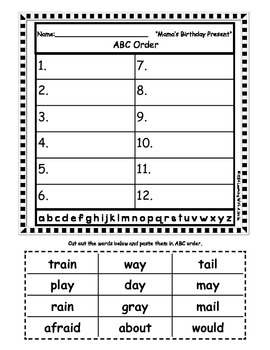 Reading Street FIRST GRADE Spelling ABC Order (Units 1-5) - Great Center!
