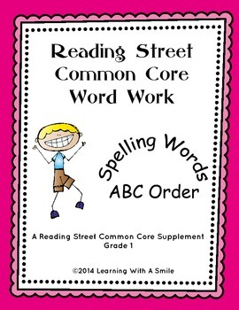 Reading Street FIRST GRADE Spelling ABC Order (Units 1-5)