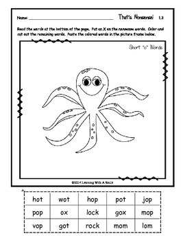 Reading Street First Grade Spelling Cut & Paste Activity Units 1-5