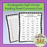 Freebie Reading Street Common Core Kindergarten Sight Words List