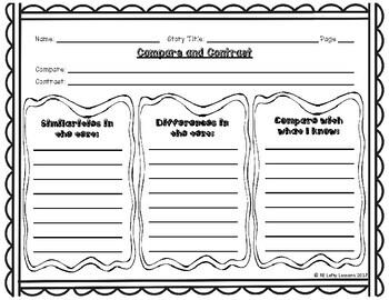 Compare and Contrast Reading Comprehension Worksheet 2