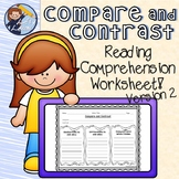 Reading Street Compare and Contrast Sheet 2
