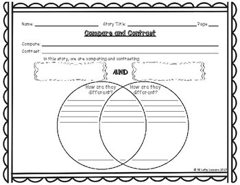 Compare and Contrast Reading Comprehension Worksheet 3