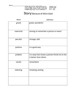4th Grade Reading Street Unit 1 Complete Guided Reading Packet