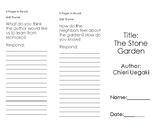 Reading Street Comprehension Brochure- The Stone Garden- Unit 5 Week 6