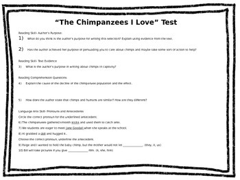 Reading Street Comprehension Tests Part Two