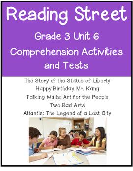 Reading Street Comprehension Unit 6 Grade 3