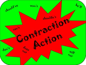 Reading Street: Contraction Action Board Game