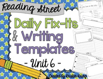 Reading Street Daily Fix-Its and Writing - Unit 6