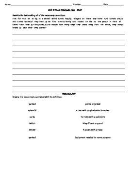 3rd Grade Reading Street Daily Skills Review Unit 1 Week 3  Kumak's Fish