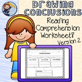 Drawing Conclusions Reading Comprehension Worksheet 2