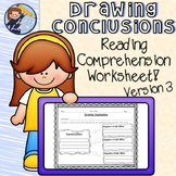 Drawing Conclusions Reading Comprehension Worksheet 3