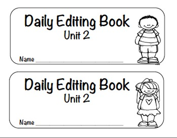 Reading Street Editing-Unit 2-First Grade