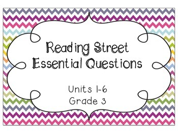 Reading Street Essential Questions (Chevron Edition!)