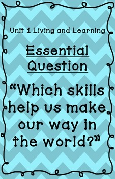 Reading Street Essential Questions Posters -  blue chevron