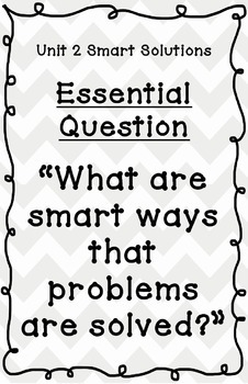 Reading Street Essential Questions Posters - grey chevron