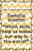 Reading Street Essential Questions Posters - orange chevron