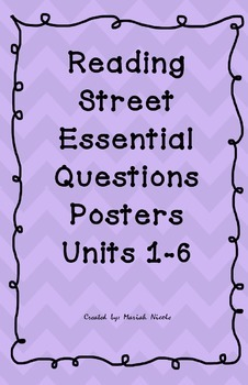 Reading Street Essential Questions Posters - purple chevron