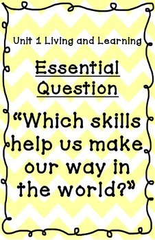 Reading Street Essential Questions Posters - yellow chevron