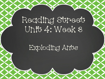 Reading Street: Exploding Ants Posters & Activities