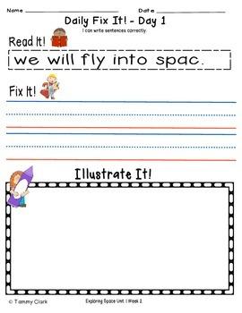 Exploring Space Reading Street Resource Pack 2nd Gr Unit 1 Week 2