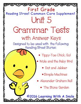 Reading Street FIRST GRADE GRAMMAR TESTS Unit 5