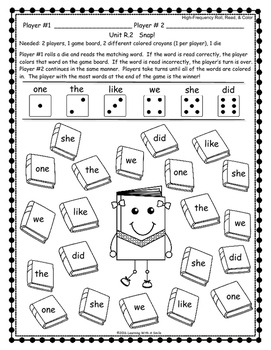 Reading Street FIRST GRADE High-Frequency Partner Activity ALL UNITS