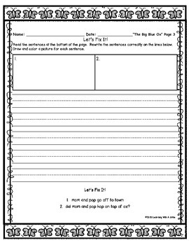 Reading Street FIRST GRADE (Unit 1) DAILY FIX-IT JOURNALS