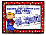 Reading Street FIRST GRADE Unit 1 No Prep Word Game: SLIDE!